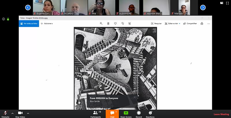 Tertúlia Artística virtual a partir da obra de Maurits Cornelis Escher